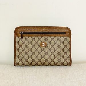 Vintage Gucci clutch or crossbody GG Brown ❤️